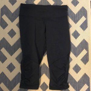 Lulu lemon black ruffle crop pants